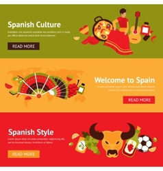 Spain banner set vector image