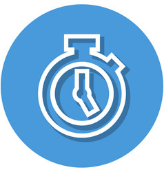 stopwatch in circle line icon vector image