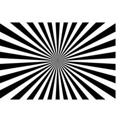 Sunburst retro sun rays white black background vector