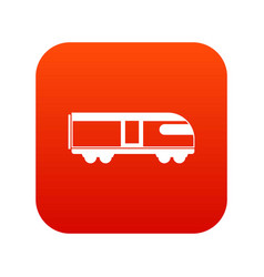 Swiss mountain train icon digital red vector