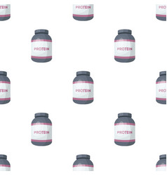 The bank labeled protein sports supplements in vector