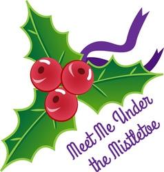 Under The Mistletoe vector image
