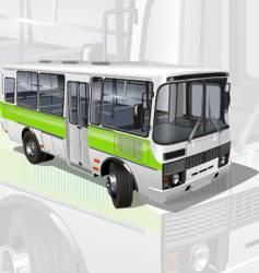 urban suburban mini-bus vector image vector image