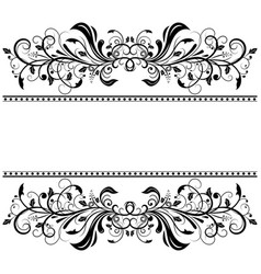 vintage floral dividers decorative ornaments for vector image