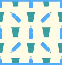 water delivery seamless pattern background vector image