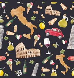 Watercolor italian pattern vector