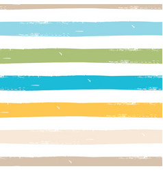 Watercolor seamless pattern with stripes vector