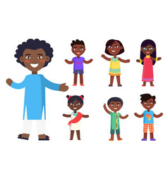 african children boys and girls isolated vector image vector image