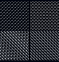 Carbon fiber seamless patterns vector