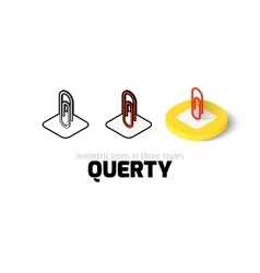Clip icon in different style vector image