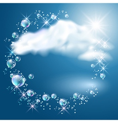 Clouds and sunshine vector image