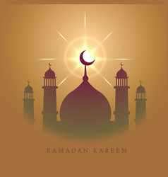 elegant mosque design for eid mubarak festival vector image vector image