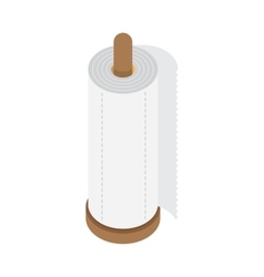 kitchen paper towel vector image vector image