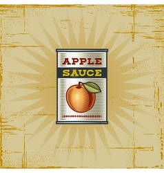 Retro Apple Sauce Can vector image