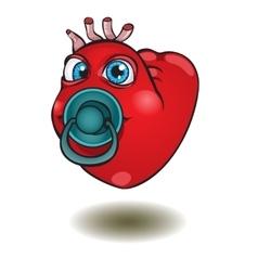 Smiley thumb up heart vector image