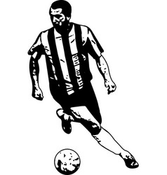 soccer player sketch vector image vector image