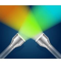 Two pocket torch light vector