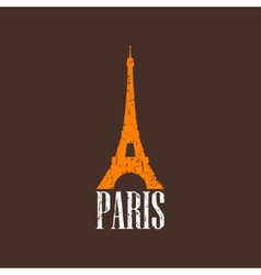 vintage with Eiffel tower vector image