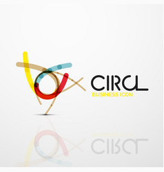 Abstract swirl lines symbol circle logo icon vector