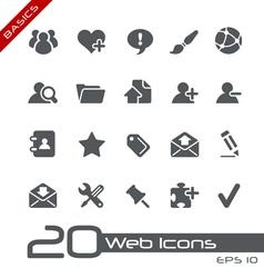 Blog Internet Basics Series vector image vector image