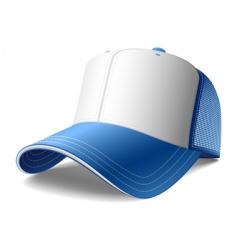 blue cap vector image vector image