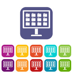 desktop of computer with folders icons set vector image