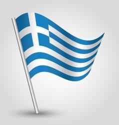 flag greece vector image vector image