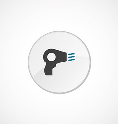 hairdryer icon 2 colored vector image