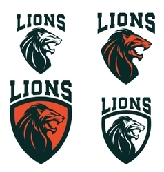Lions Set of the emblems templates with angry vector image vector image