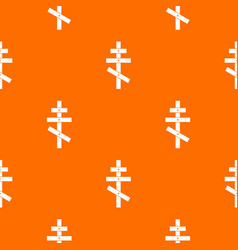 orthodox cross pattern seamless vector image vector image