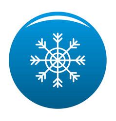 snowflake icon blue vector image