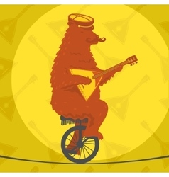 Bear riding a motorcycle vector image vector image