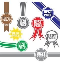 Best price signs set best price sticker set vector