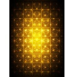 Digital yellow background vector image vector image