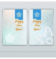 New Year Cards with Snowflakes vector image vector image