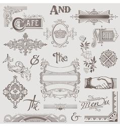 Set various retro design elements vector