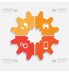 sliced gear infographic vector image vector image