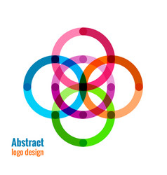 abstract circle icon vector image vector image