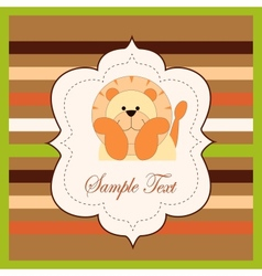 Bright card with a lion vector image