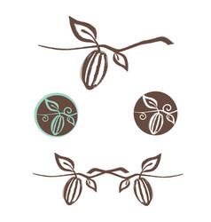 cocoa logo design set vector image