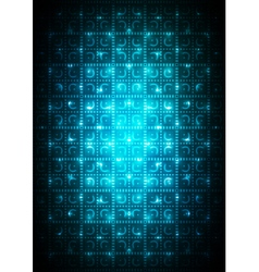 Digital blue background vector image vector image