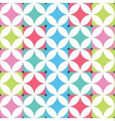 geometric seamless squares background vector image