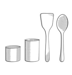 hand drawn modern spoons vector image vector image