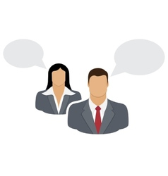 Talking Couple vector image vector image
