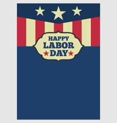 USA Labor day vertical background vector image vector image