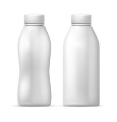 white blank plastic bottle packaging vector image