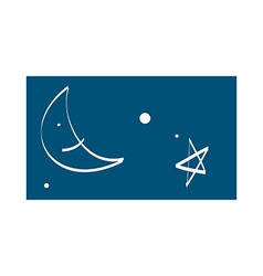 A night sky vector