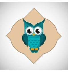 Animal design owl icon Isolated vector
