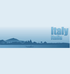 Banner with the image of the sights of italy vector