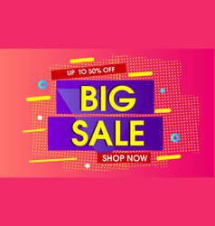 big sale abstract background vector image